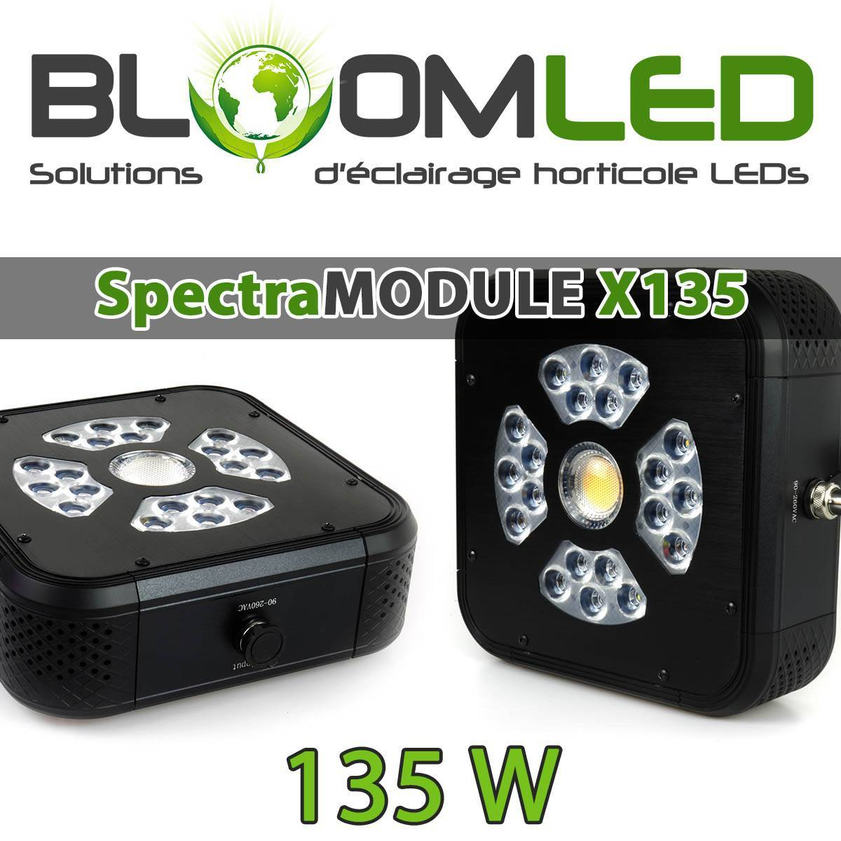 Horticultural LED Lamp 60W Cree - 100% Silent - SpectraBUD X60